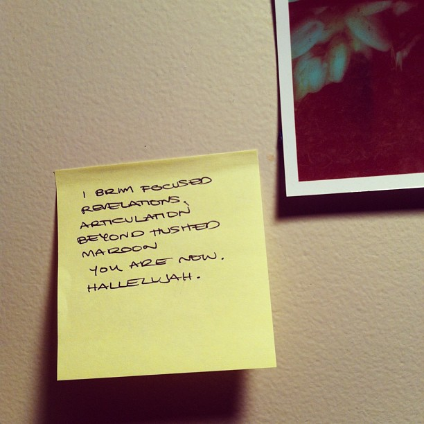 iamnomes :     Post-It note poems.      —Nakazato