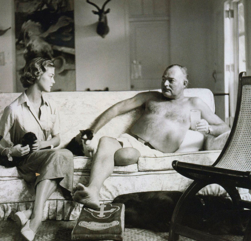 Topless Hemingway? Yes. No. Maybe.    Biblioklept recently published  this slideshow  of topless Hemingway photos. A little fascinating, and a little not so much later in life.