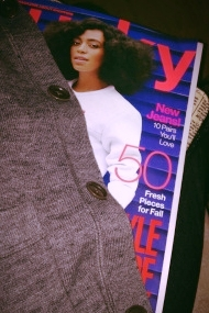 My sweater and Aug issue of Lucky