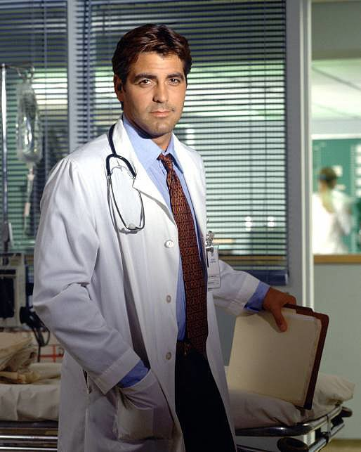 Photo of Clooney as ER's Dr. Ross (found on PopSugar)