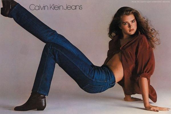 Brooke back in Calvin Klein days