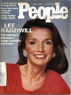 Lee Radziwill on the cover of People Magazine, 1976