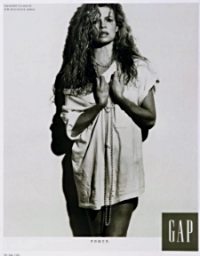 Vintage Gap Ad from the 1980's, featuring Kim Basinger