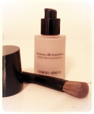 the foundation brush and the foundation