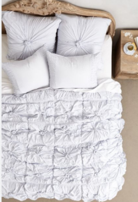 Bedding and furniture by Anthropologie