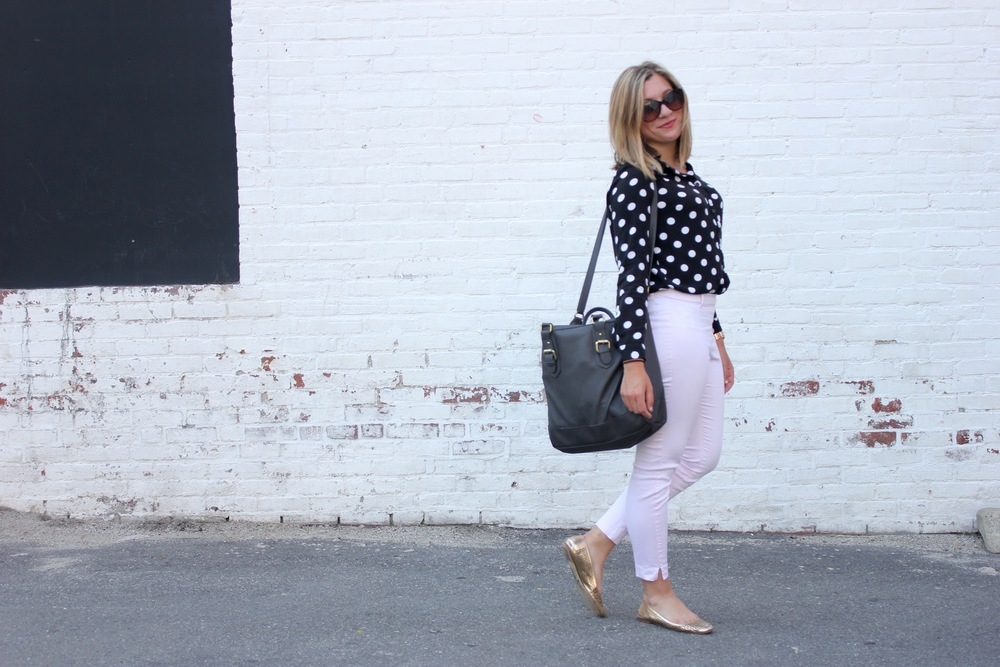 Stylish RI'er Taylor in her signature polka dots