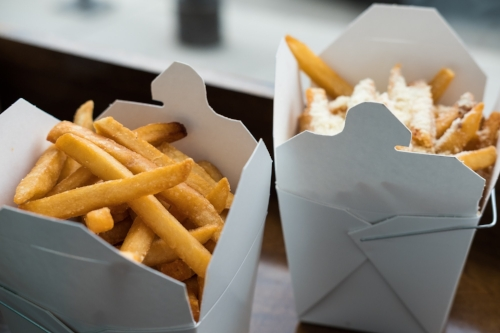 Naked Fries (with sea salt) and The Alleycat, photo courtesy of Stacey Doyle