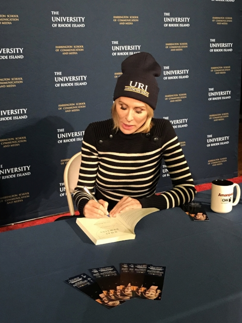 Carole Radziwill signing a copy of her book What Remains last night at Edwards Hall at URI