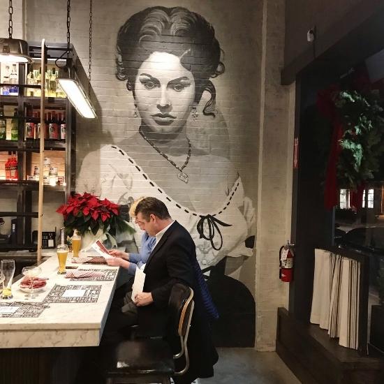 the Insta Worthy mural of Sophia