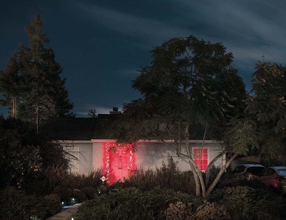 Silent Night House 1216 Los Angeles, California, House, landscape, christmas, fear, dark, night, fine art