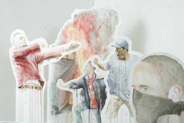 Aleksi Tolonen:...ja täältä pesee!, detail of an installation