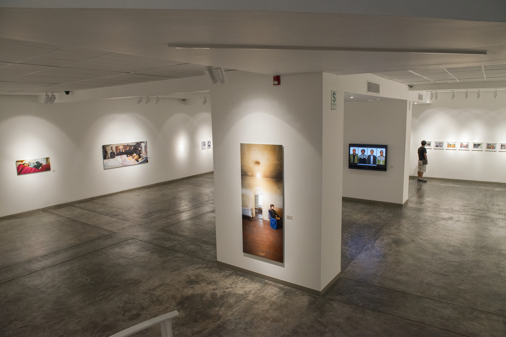 Installation view at  Galería Juan Pardo Heeren, as part of Lima Photography Biennial 2014. Photo: Kari Soinio