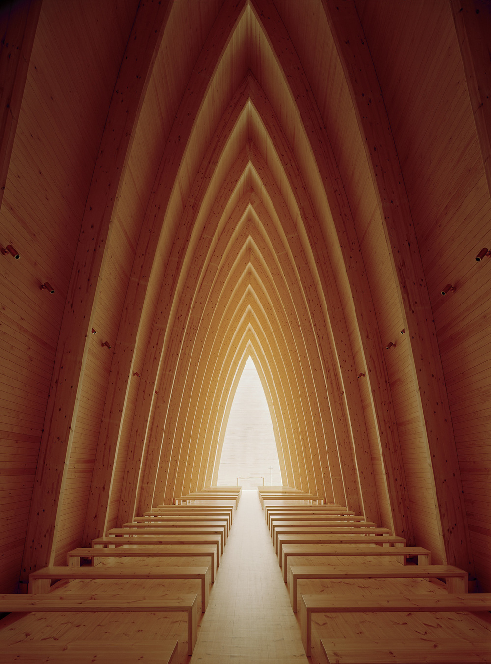 Sanaksenaho Architects: Turku Ecumenical Art Chapel designed 1996-99, built 2005. Photo: Jussi Tiainen