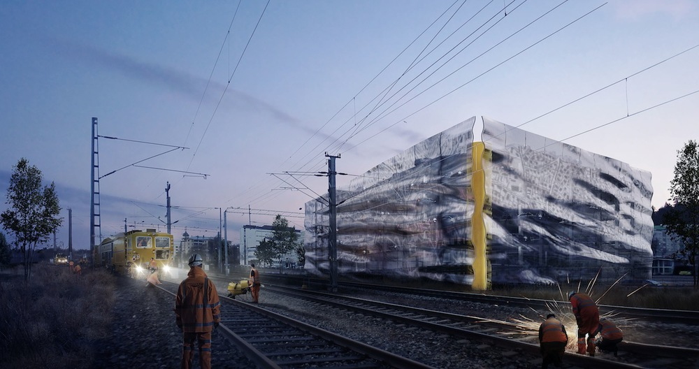 Emmi Keskisarja: Välke (2014) Shared 1st Prize in Invited Competition for a Landmark Parking Facility in Mikkeli, Finland.