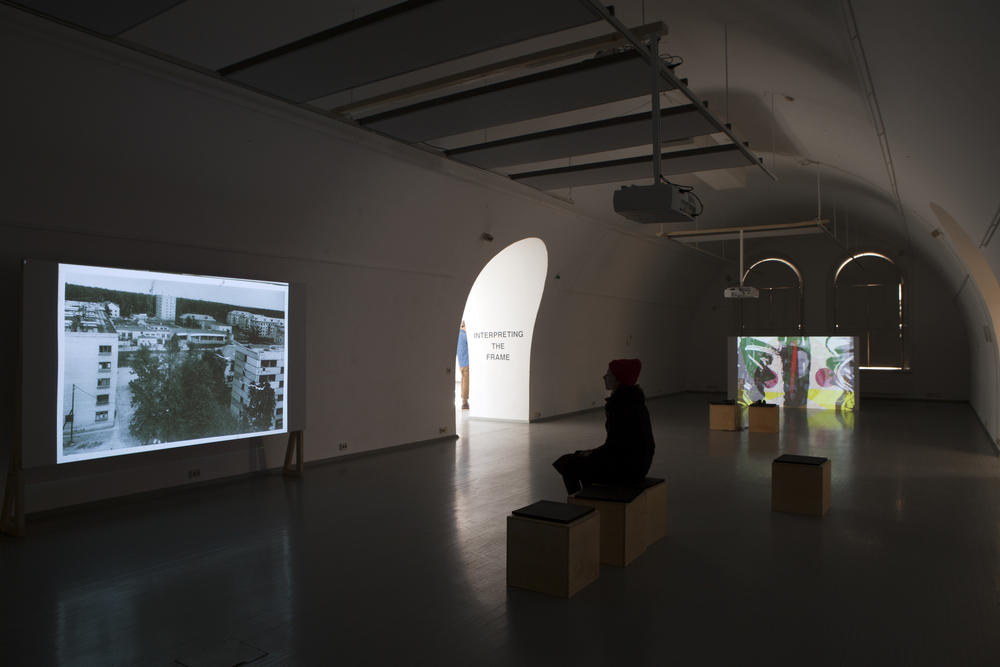 Exhibition view. Tatiana Istomina, Narrative machine: How we lived then (2014), Zeljka Blaksic, Clearing Agent (2015)