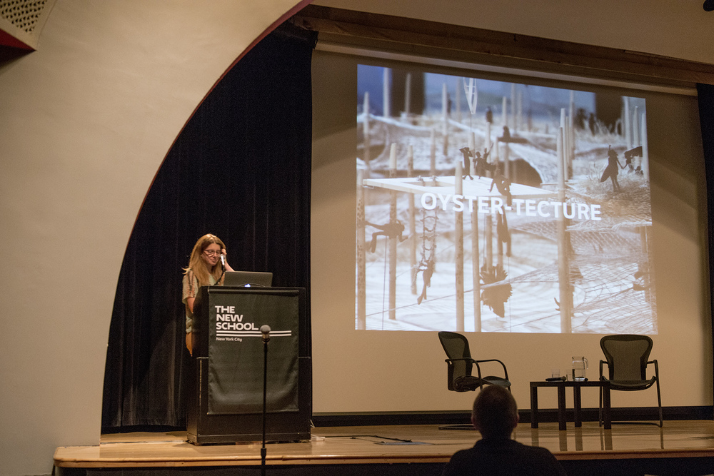 Gena Wirth of the SCAPE Studio, giving her presentation Approaching Urban Nature, as part of Urban Nature Symposium in October 2015.