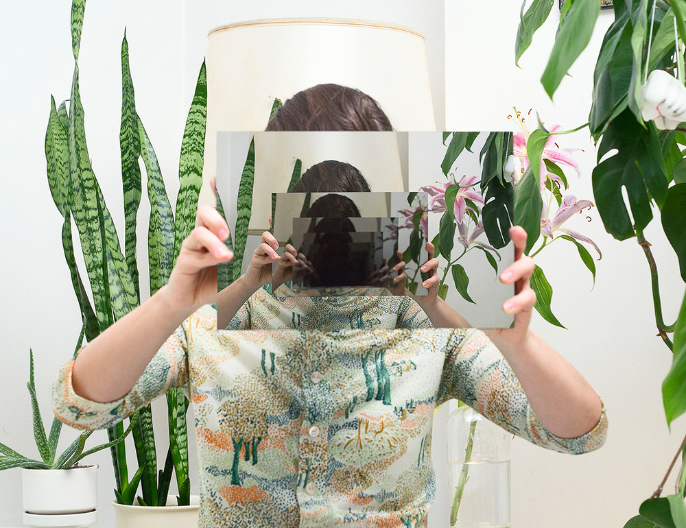 Elina Vainio: Steamed up Windows Turn into Mirrors (C-print on aluminium), 2014.