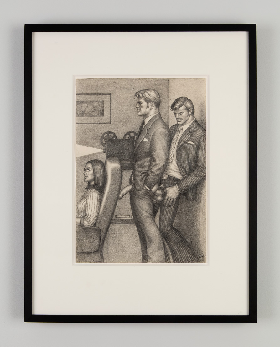 Untitled, 1974. Graphite on paper. Private Collection, Sweden. From Tom of Finland: The Pleasure of Play, Artists Space, 2015. Photo © Jean Vong.