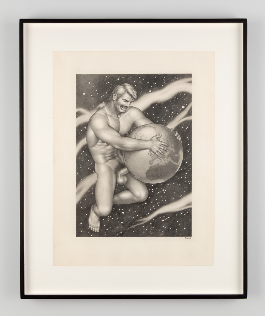 Untitled, 1976. Graphite on paper. Collection Ulrich Tangermann, Hamburg. From Tom of Finland: The Pleasure of Play, Artists Space, 2015. Photo © Jean Vong.