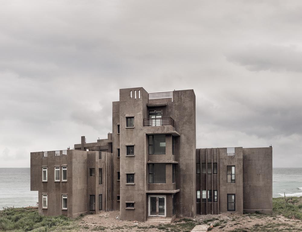 Pekka Niittyvirta:Untitled (Concrete House),2013. 100x130cm framed inkjet print.From the series Monsters, Dark Mills & Angels.
