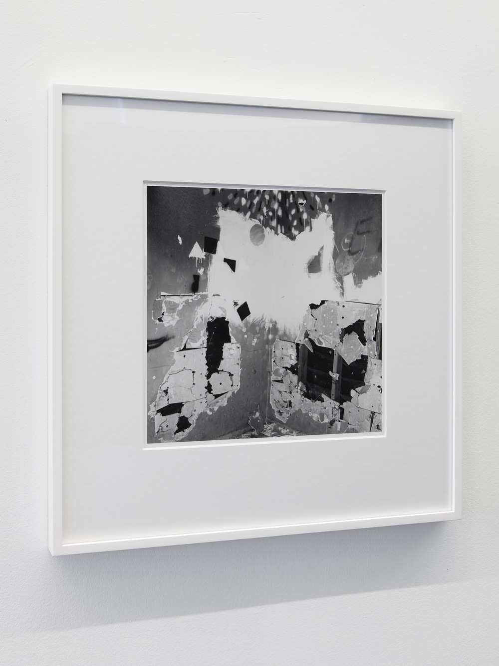John Divola, from the series Vandalism, 1973-73. Archivally processed B&W photographs, 14 x 14 inches. Courtesy of the artist, Gallery Luisotti Los Angeles and Laura Bartlett Gallery London.