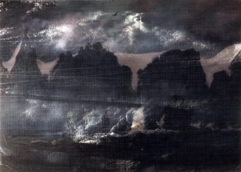 Jorma Puranen,Sailing by the Seven Sisters, 2016. C-print, Diasec, framed, 105x74,5cm.