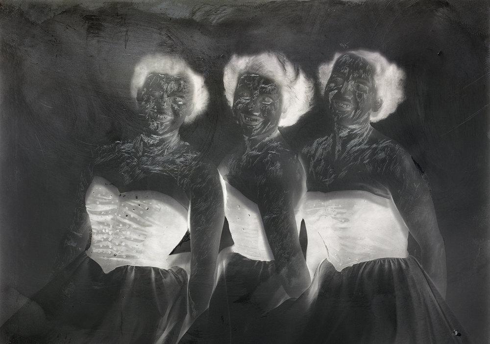 Jorma Puranen,Museum Meditations 8 (Trio), 2012. C-print, Diasec, framed, 60x42cm.