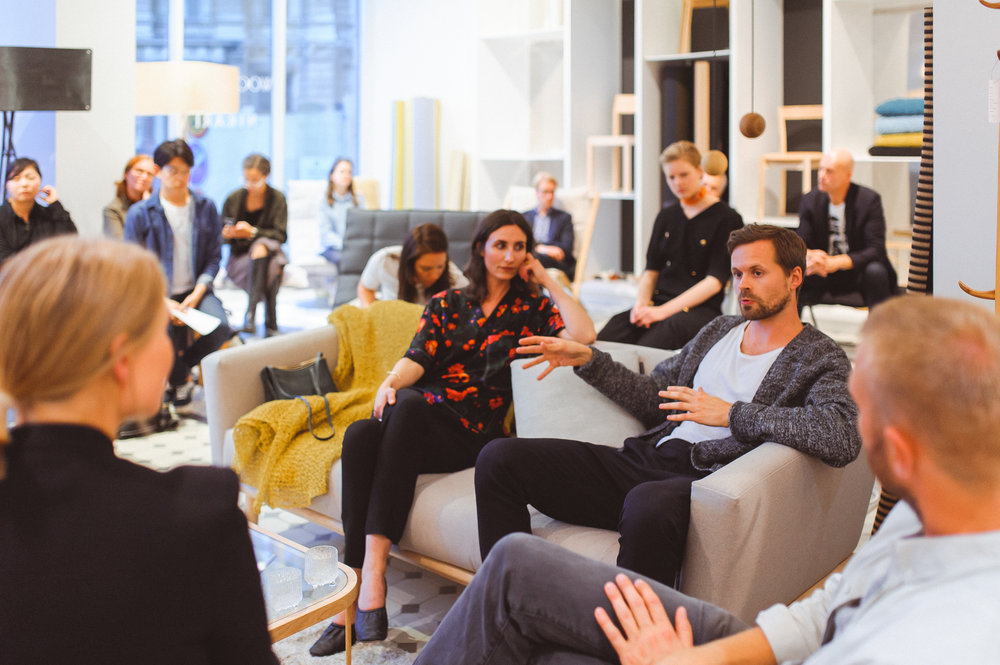 An Evening with Design Art salon discussion was organized as part of the Helsinki Design Week by FCINY's MOBIUS fellow and Design Museum Helsinki's Curator Suvi Saloniemi.