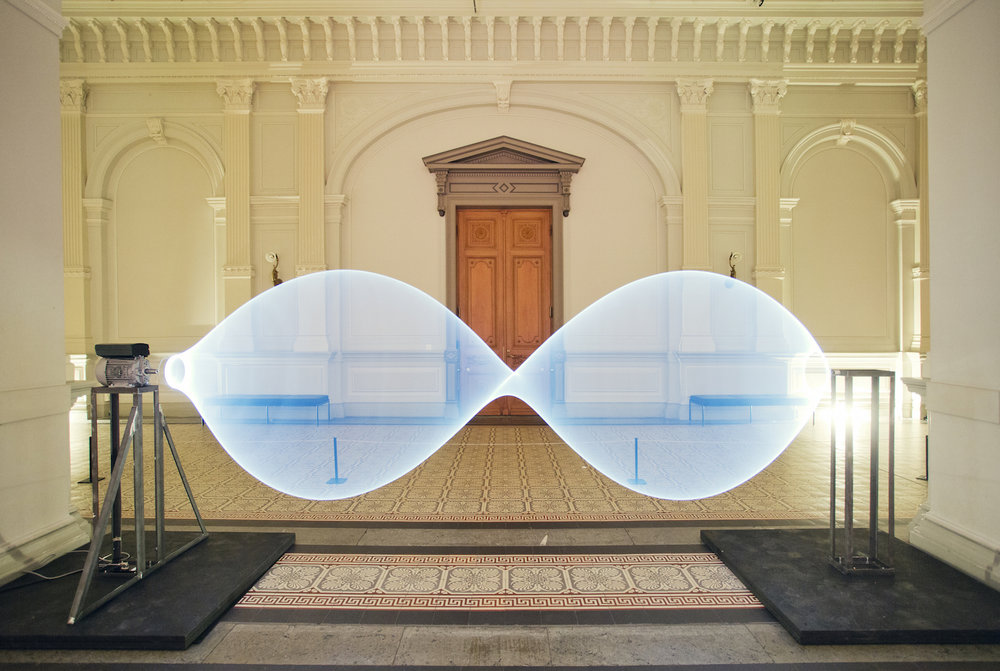 Kai van der Puij, 11.5 Hz, 2015, light installation. Kai van der Puij was FCINY's artist-in-residence in November-December 2016.