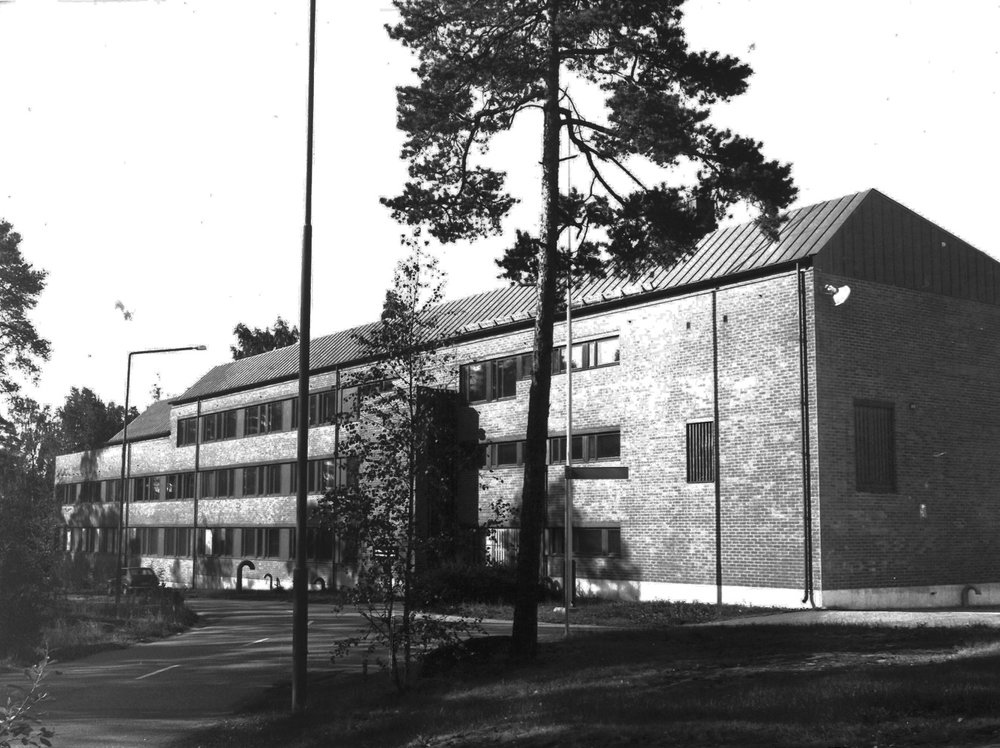 Lauttia's current project is a Thermal Laboratory, designed by Alvar Aalto, in Otaniemi, Espoo. Picture from 1960's.