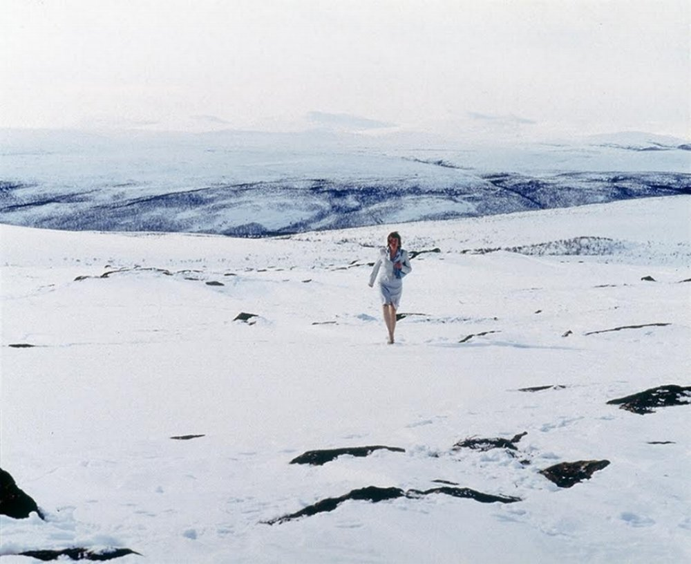 Through self-portraits, Helander has examined her own identity between the Finnish and the Sámi culture. Marja Helander, from the series Modern Nomads, 2001. Cousrtesy of the artist.