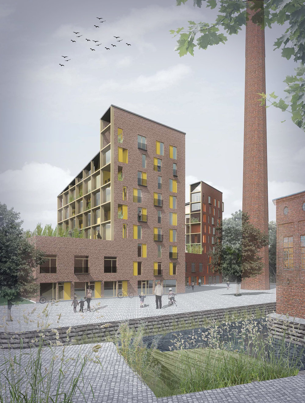 Kangas is the most significant urban development project in the city of Jyväskylä. Courtesy UKI Architects
