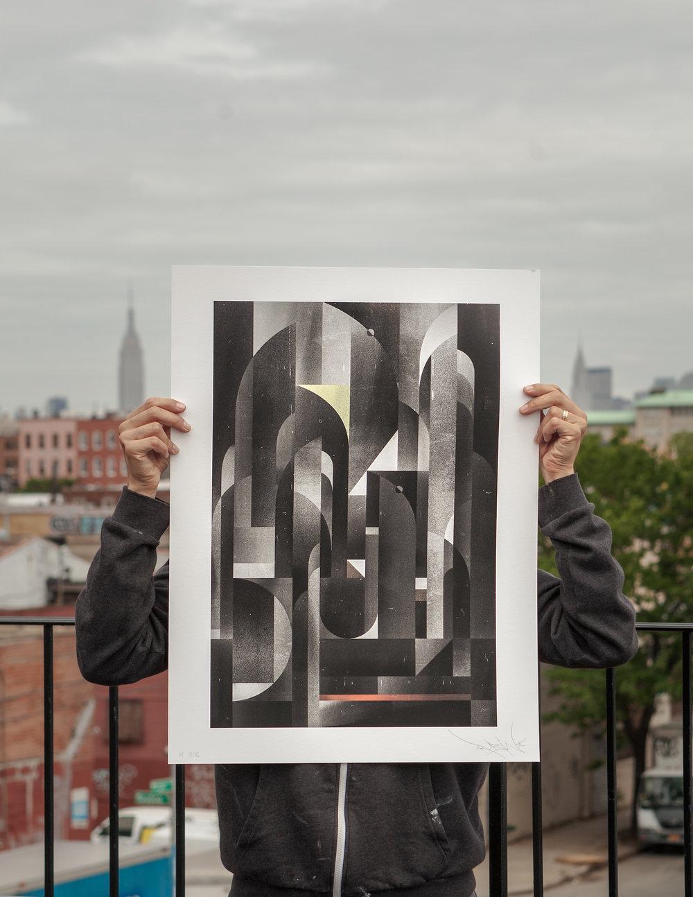 Asphalt print, 2014.
