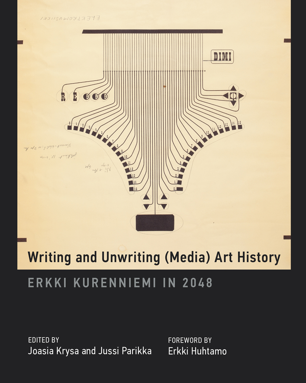 Writing and Unwriting (Media) Art History    -    Erkki Kurenniemi in 2048    (edited by Joasia Krysa and Jussi Parikka, 2015) offers an excavation, a critical mapping, and an elaboration of scientist-humanist-artist Erkki Kurenniemi's multiplicities.