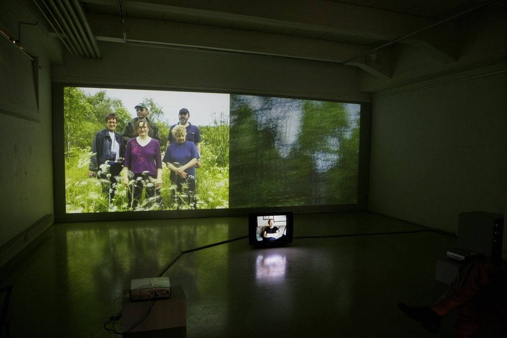 Installation view of  Irja's Story  (2006) by Raakel Kuukka.