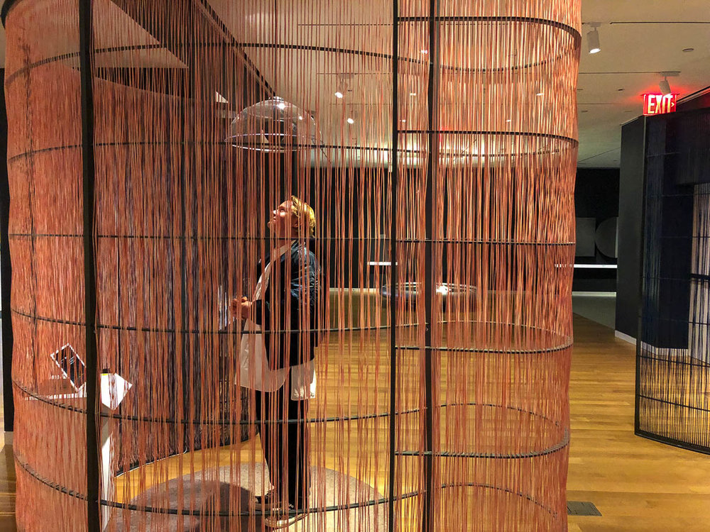 Cooper Hewitt's triennial  Senses  offered an immersive exhibition experience. Thematic of the triennial was further explained to the group by Cara McCarty, the Curatorial Director of the museum.