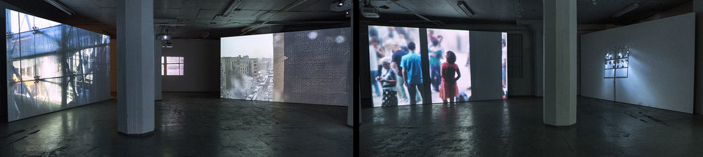 Rita Jokiranta,  Life as It Flees,  2017, multi-channel video installation. Installation view.