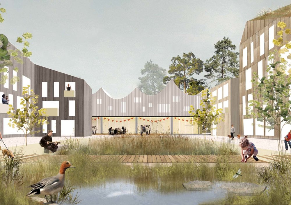 Nea Tuominen, Rachel Murray and Lotta Kindberg won the first prize in Europan14 urban design competition for young architects with their proposal for intensified suburban development on Laajasalo island in Helsinki.