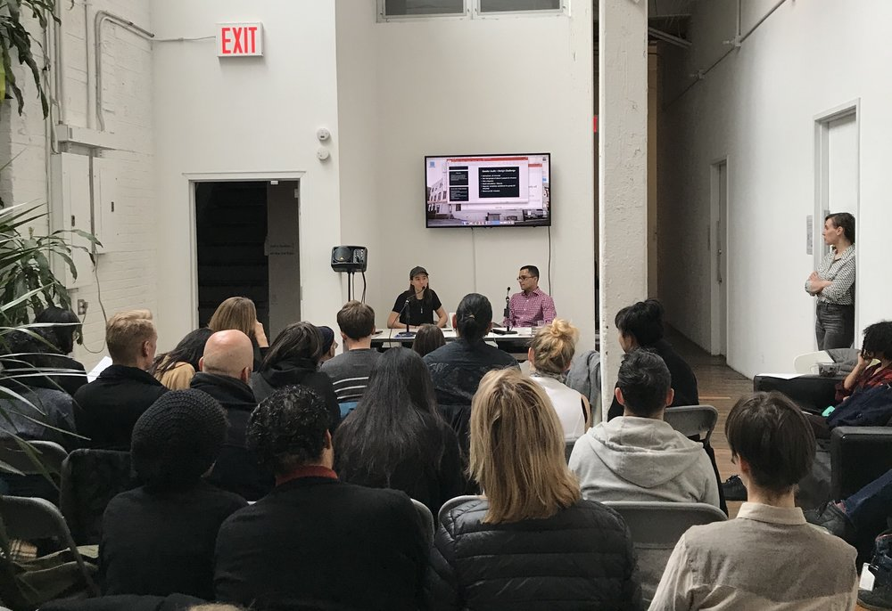 Artist Ryan Hammond and political theorist Heath Fogg Davis discussed the importance of renegotiating gender binaries as part of the  Beyond Binaries  symposium at the ISCP - International Studio and Curatorial Program in January 2018.
