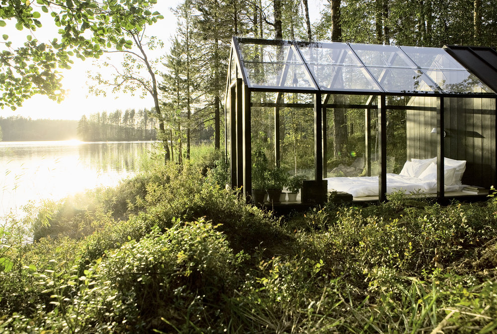 Bergroth designed the  Garden Shed  in collaboration with architect  Ville Harakka  for Finnish brand  Kekkilä  in 2010. She customized the prototype to create a tool shed that also works as a summer bedroom and a small greenhouse. Photo: Arsi Ikäheimonen.