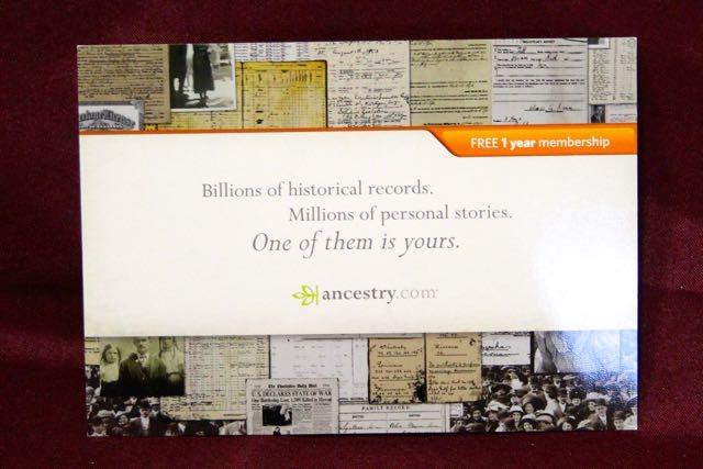 ITEM #1: Ancestry.com 1-year World Membership