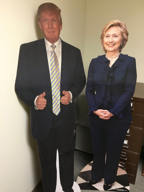 Item #26: Trump & Clinton Full-sized Cardboard Stand-Ups