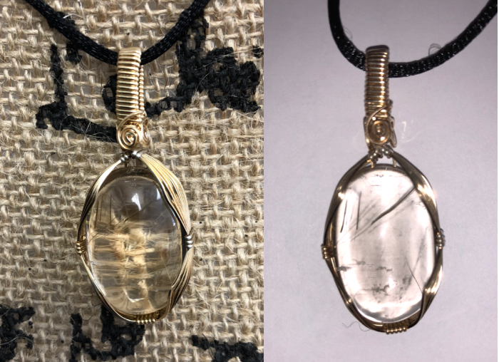 Item #17: Rutilated Quartz pendant