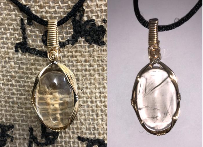 Item #17: Rutilated Quartz pendant