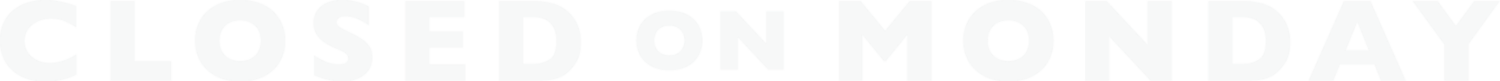 Closed On Monday