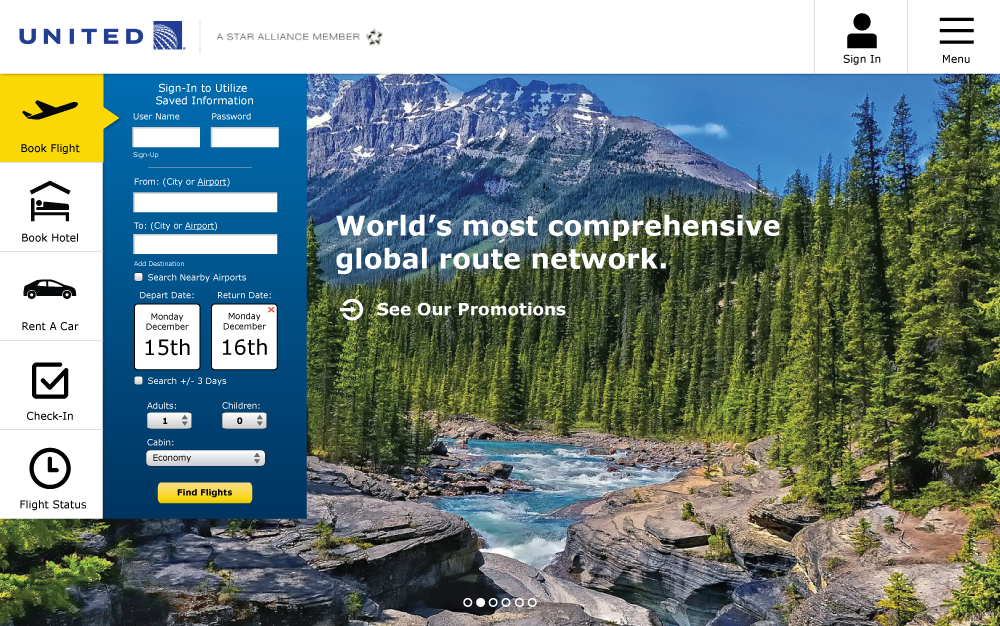 United - Website Re-Design