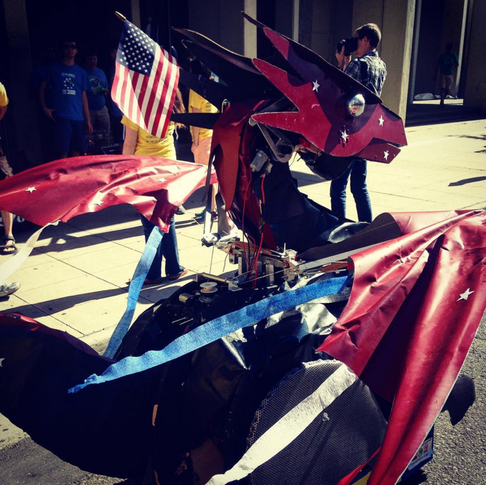 Dragonbot at the 2016 4th of July Parade.