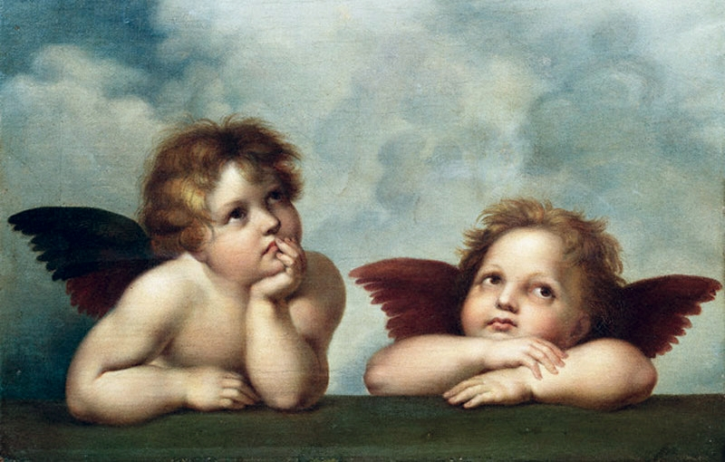 I mean, seriously, Christians - how are we missing this one? Look at the cute little baby angels and feel the confusion they're feeling.