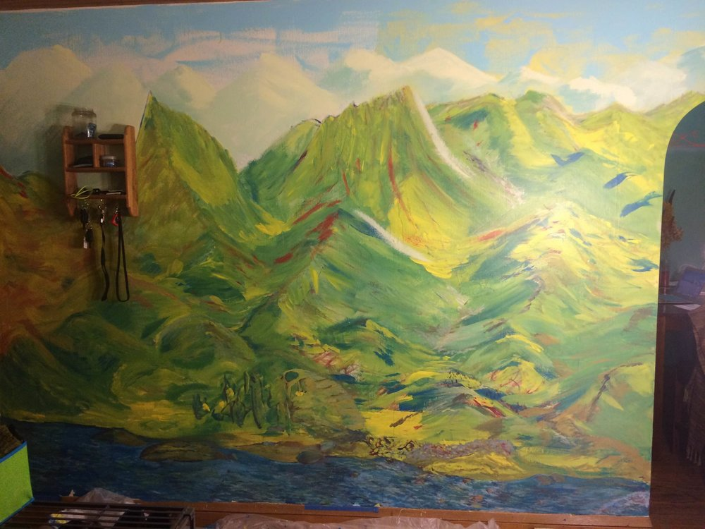 """Mountain Stories""   Mural / Wall Paint / 2015"