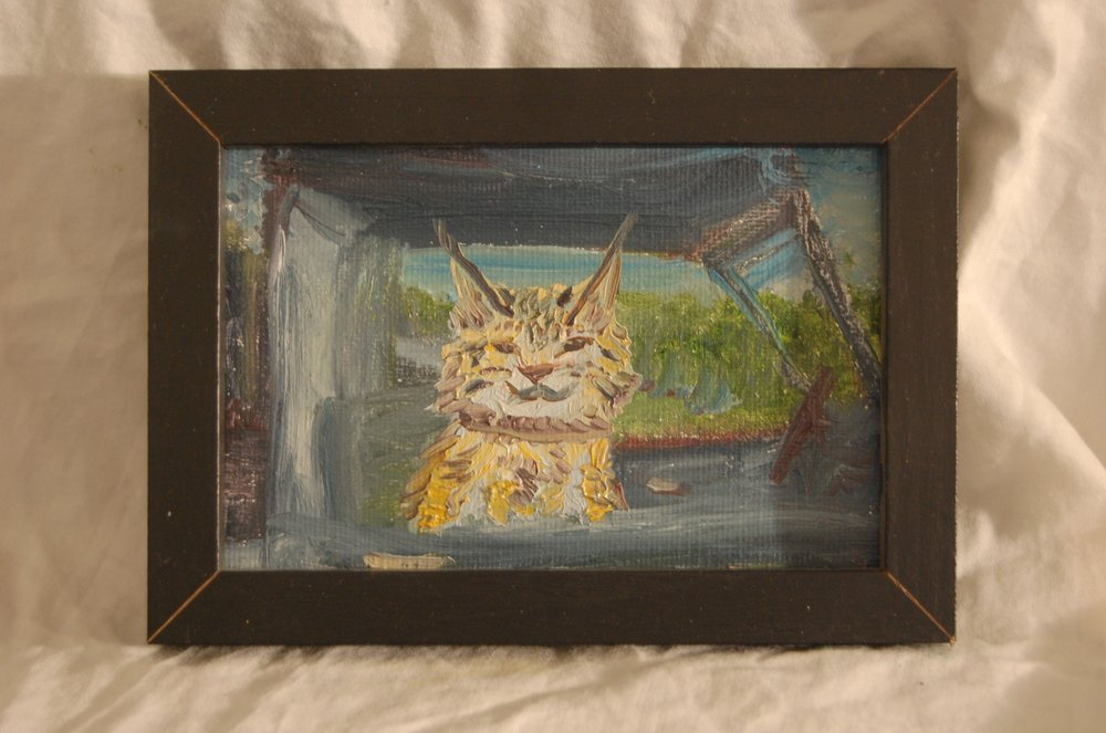 Mokave  Oil on Canvas  4 x 6  Black Frame
